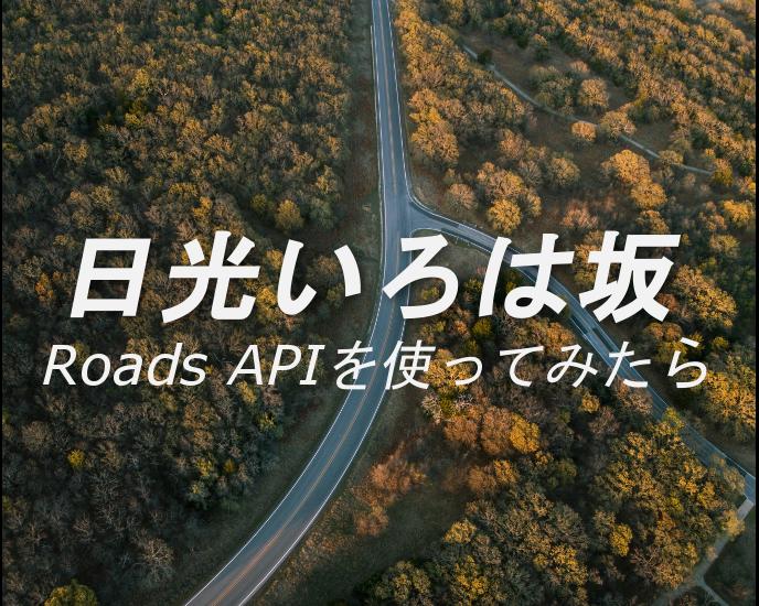 日光いろは坂で Roads API を使う