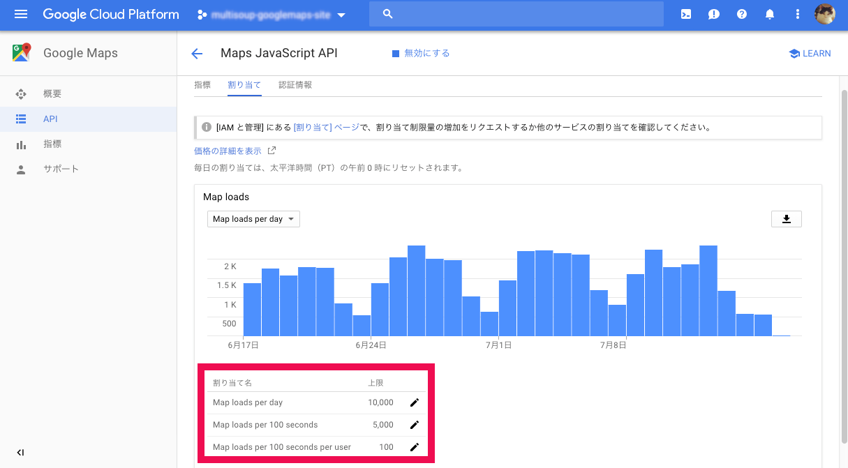 MapsJavaScriptAPI_使用回数制限